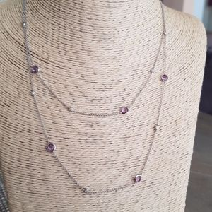 "IPPOLITA  36"" RAIN AMETHYST Diamond Necklace"